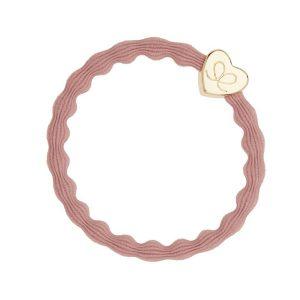 Soft Pink Gold Heart Bangle Band