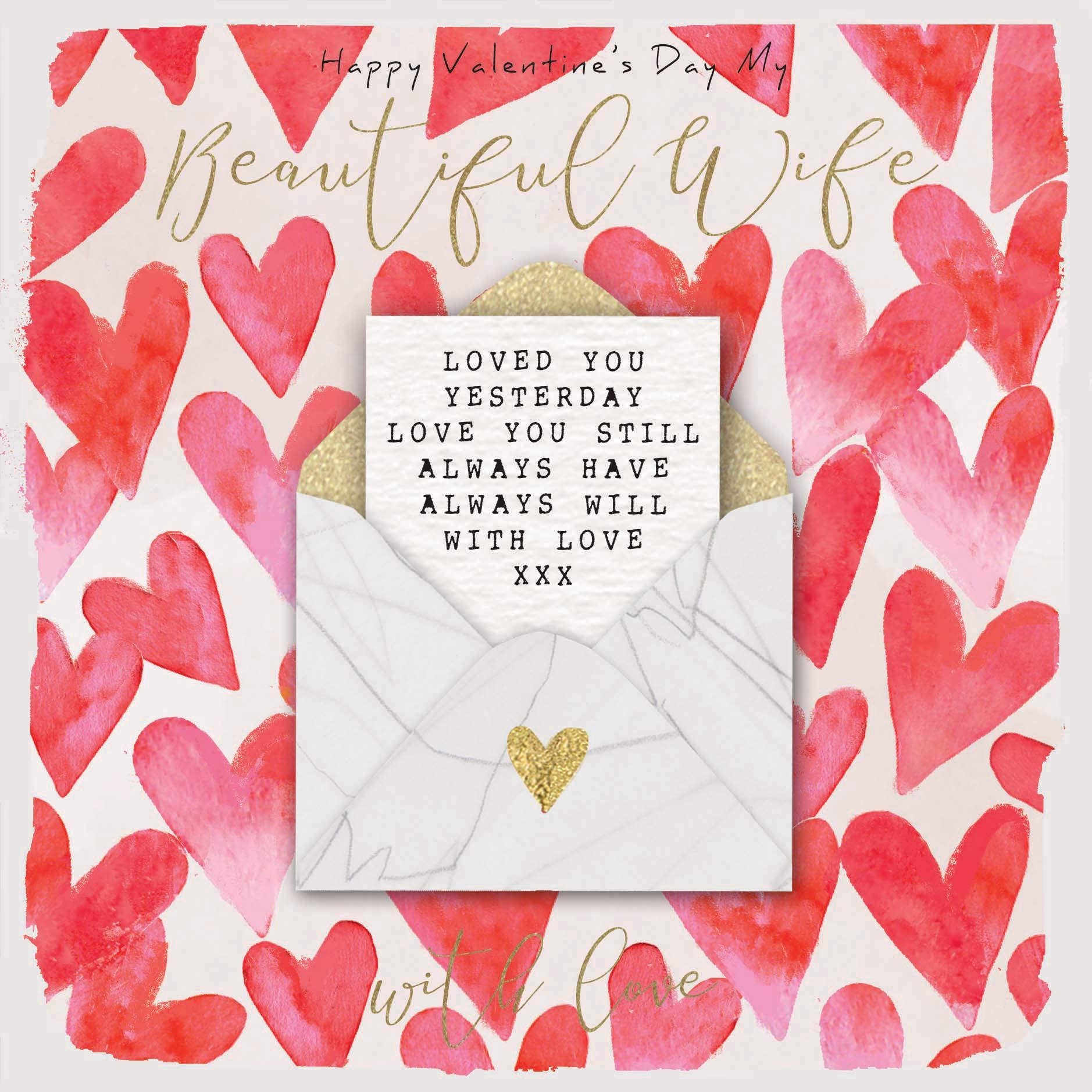 Wife to valentine note A Valentine